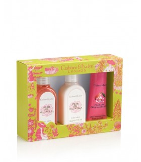 Pink Magnolia and Pear Skin Care Gift Box Crabtree Evelyn