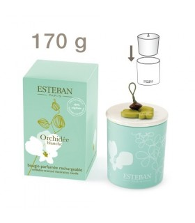 Orchidee Blanche scented candle rechargeable Esteban