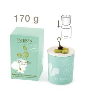 Orchidée Blanche Vela Perfumada Recargable Esteban