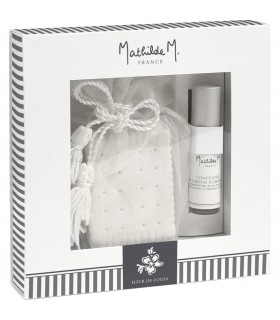 Gift Box Ceramic + Spray room 5 ml Fleur de Coton Mathilde M.
