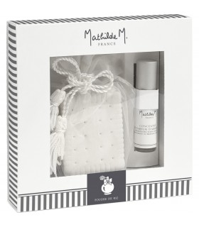 Gift Box Ceramic + Spray room 5 ml Poudre RizMathilde M.