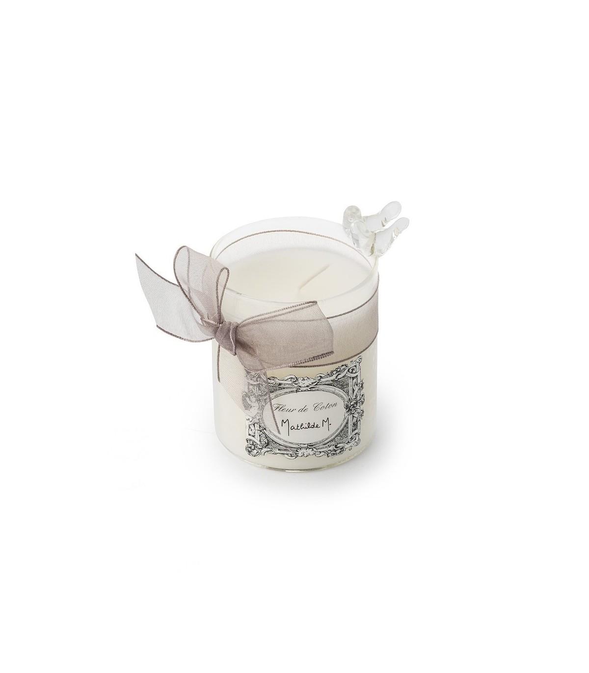 mathilde m cotton flower scented candle. Black Bedroom Furniture Sets. Home Design Ideas